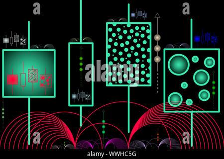 Inteligencia Artificial - Aprendizaje de la máquina abstracta - Ilustración
