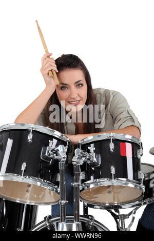 Mujer baterista