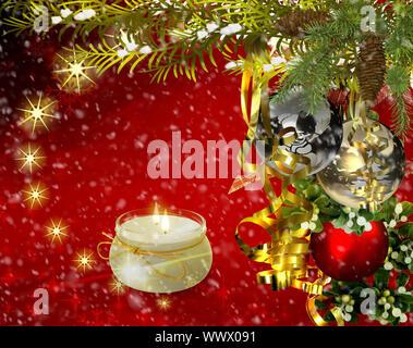Saludos de Navidad, fiestas de fondo para las imágenes. 3D rendering