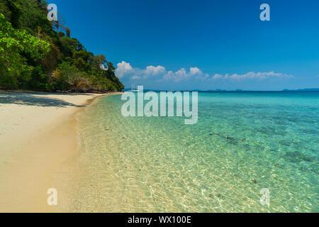 Ko Kradan tropical beach, Tailandia, el sudeste de Asia, Asia