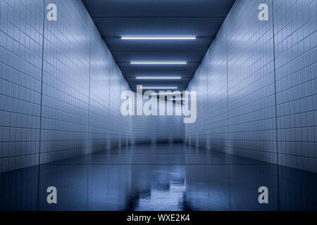 Un típico corredor subterráneo antecedentes