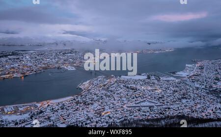 La ciudad de Tromso en invierno