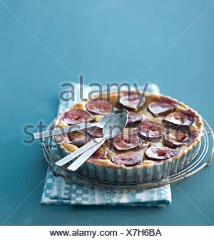 Tarta de higo Foto de stock