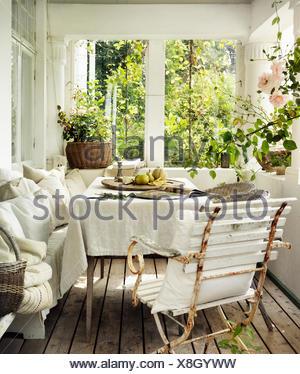 Suecia, Vastergotland, conservatorio de Vista interior
