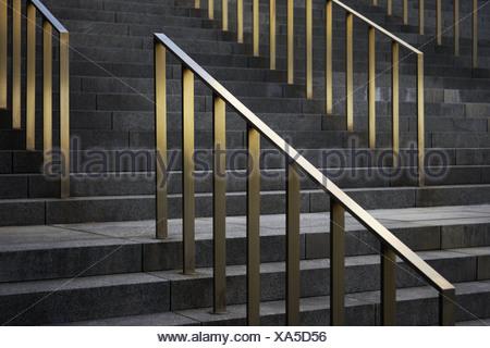 Escalera ascenso barandillas detalle pasos escaleras for Escalera 5 pasos afuera
