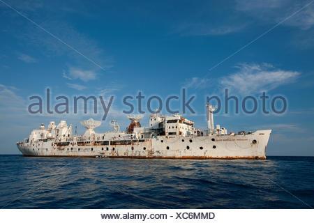 General hoyt vandenberg buque s. Como se prepara para el naufragio, a seis millas de la costa de Key West, Florida Keys.