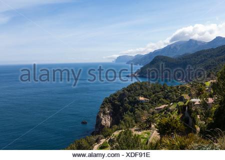 Acantilados cerca de Estellencs, Banyalbufar, Mallorca, Islas Baleares, España