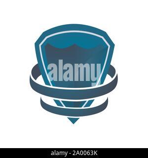 Bouclier logo entreprise, logo de l'entreprise de sécurité prêt à l'emploi. Symbole abstrait de la sécurité. Logo de l'écran. Icône de bouclier. Logo de sécurité. Vector icône de bouclier Banque D'Images