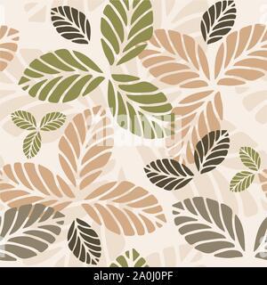 Transparente avec motif floral les feuilles d'automne Banque D'Images