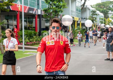 Singapour. Sep 20, 2019. Marina Bay Street Circuit, Singapour, GP de Formule 1, Charles Leclerc: Crédit Photos Pro/Alamy Live News Banque D'Images