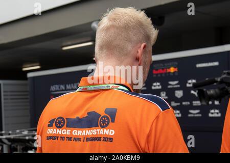 Singapour. Sep 20, 2019. Marina Bay Street Circuit, Singapour, GP de Formule 1, le néerlandais Crédit: Ventilateur Pro Shots/Alamy Live News Banque D'Images