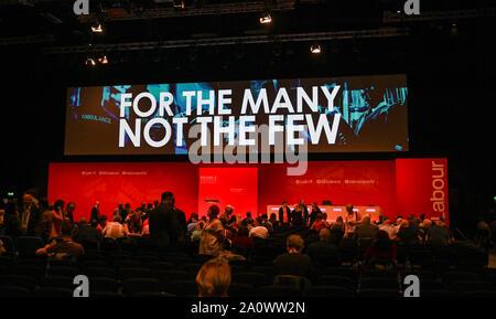 Brighton UK 22 Septembre 2019 - La conférence du parti travailliste qui a lieu au centre de Brighton cette année. Crédit photo: Simon Dack / Alamy Live News