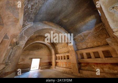 Intérieur d'une maison dans l'ancienne ville romaine de Pompéi, Italie