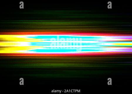 Résumé Pixel numérique Glitch de bruit vidéo, illustration des dommages d'erreur