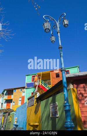 Les bâtiments colorés de La Boca, Buenos Aires, Argentine Banque D'Images