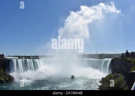 Rivière Niagara's Horseshoe Falls entre l'État de New York, USA, et de l'Ontario, Canada, vu du côté de l'Ontario de Niagara -05 Banque D'Images