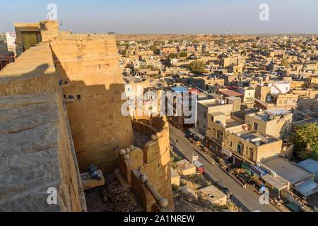 Jaisalmer, Inde - 17 février 2019 - Vue de la ville de fort Jaisalmer Rajasthan