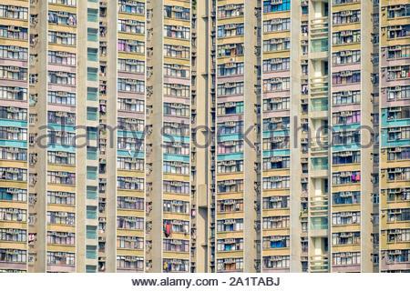 Les tours d'appartements à Tin Shui Wai, Yuen Long District, de nouveaux territoires, Hong Kong, Chine Banque D'Images