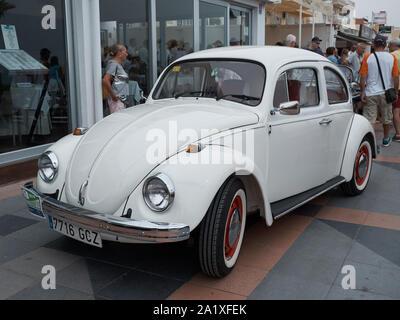 Volkswagen Beetle. Classic car réunion à Torremolinos, Malaga, Espagne.