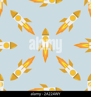 Texture seamles roquettes pour votre conception. Télévision et des motifs de couleur solide. Vector illustration. Banque D'Images