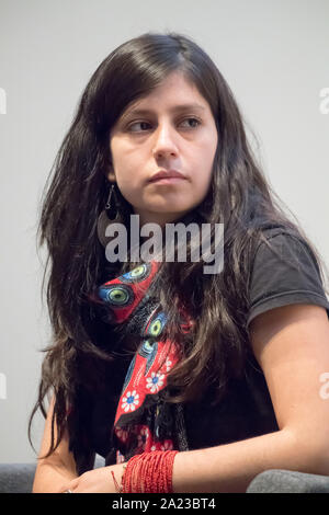 Antonella Calle, le président du mouvement Yasunidos, à Gdansk, Pologne. 29 septembre 2019 © Wojciech Strozyk / Alamy Stock Photo Banque D'Images