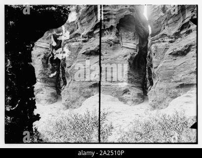 Petra, es-Sik entrée privée Banque D'Images