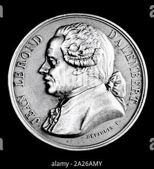 Illustration de Jean-Baptiste le Rond d'Alembert (1717 - 1783), mathématicien français, scientifique américain, physicien, philosophe et théoricien de la musique. Banque D'Images