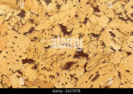 Close-up of cork en retard de l'isolation acoustique pour sols et murs Banque D'Images