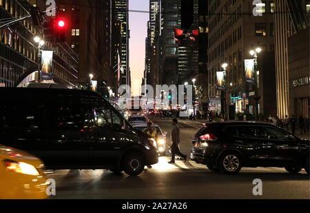New York City, USA. 26 Sep, 2019. La VILLE DE NEW YORK, USA - 24 septembre 2019: Le trafic à Manhattan. Valery/Sharifulin Crédit: TASS ITAR-TASS News Agency/Alamy Live News Banque D'Images