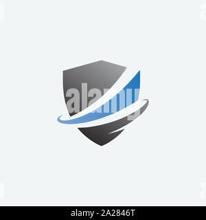 Icône de bouclier bouclier, illustration design logo design, logo, modèle de sécurité protéger l'icône logo Banque D'Images
