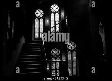 Escalier intérieur, Manchester Town Hall, Albert Square, Manchester, UK Banque D'Images