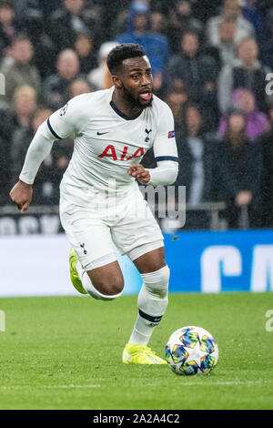 Londres, Royaume-Uni. 06Th Oct, 2019. Football : Ligue des Champions, Tottenham Hotspur - FC Bayern Munich, phase Groupe, Groupe B, 2e journée à Tottenham Hotspur Stadium. Danny Rose de Tottenham joue la balle. Credit : Matthias Balk/dpa/Alamy Live News Banque D'Images