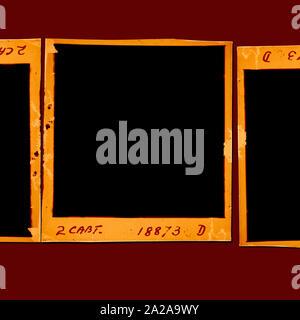 Vieux 120 mm bobine de film plié Banque D'Images