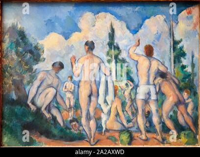 '''Baigneurs'', 1890, Paul Cézanne, 1839-1906, Musée d'Orsay, Paris, France, Europe Banque D'Images