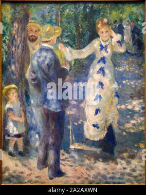 '''La balançoire'', 1876, Pierre Auguste Renoir, 1841-1919, Musée d'Orsay, Paris, France, Europe Banque D'Images