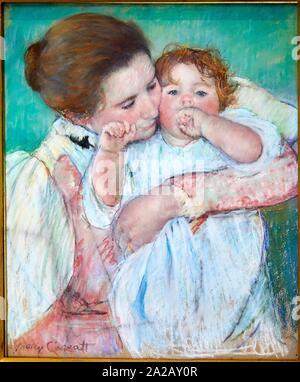'''Femme et enfant'', 1897, Mary Cassatt (1844-1926), Musée d'Orsay, Paris, France, Europe Banque D'Images