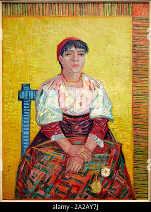 '''L'italienne'', 1887, Vincent Van Gogh, Musée d'Orsay, Paris, France, Europe Banque D'Images
