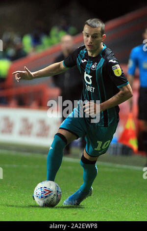 Londres, Royaume-Uni. 09Th Oct, 2019. Celina Bersant de Swansea City en action. Match de championnat Skybet EFL, Charlton Athletic v Swansea City à la vallée à Londres le mercredi 2 octobre 2019. Ce droit ne peut être utilisé qu'à des fins rédactionnelles. Usage éditorial uniquement, licence requise pour un usage commercial. Aucune utilisation de pari, de jeux ou d'un seul club/ligue/dvd publications. pic par Steffan Bowen/Andrew Orchard la photographie de sport/Alamy live news Crédit : Andrew Orchard la photographie de sport/Alamy Live News Banque D'Images