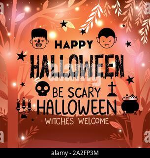 Halloween party la conception de cartes ,vector illustration Banque D'Images