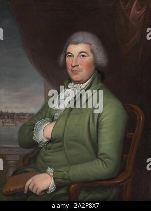 Charles Willson Peale, Américain, 1741-1827, Christopher Hughes, 1789, huile sur toile, non monté: 38 7/8 × 27 1/8 pouces (98,7 × 68,9 cm Banque D'Images