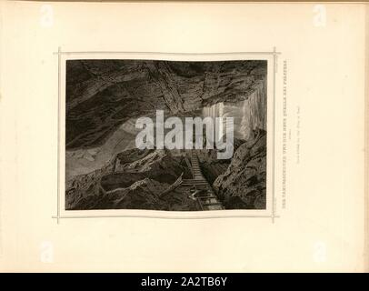 Le Taminaschlund et le nouveau ressort à Pfäfers, Gorges de Tamina, signé: L. Rohbock (del), K. Gunkel (couche externe.), TAF. 46, p. 97, Rohbock, Ludwig (del.); Gunkel, Carl (couche externe.), 1870, Ludwig Rohbock: Album der Nord- und Ostschweiz: 100 Stahlstiche aus den Cantonen Bâle, Soleure, Argovie, Zurich, Schaffhouse, Thurgovie, Saint-Gall, Appenzell, Glaris et les Grisons. Bâle: Verlag von Chr. Poka, [ca. 1870 Banque D'Images
