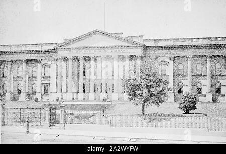 Négatif - Melbourne, Victoria, vers 1885, la Bibliothèque publique de Melbourne