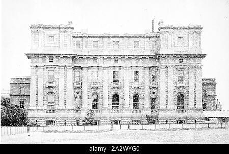 Négatif - Melbourne, Victoria, vers 1885, le côté nord de la Maison du Parlement