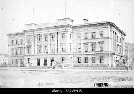 Négatif - Melbourne, Victoria, vers 1885, la Maison de la douane