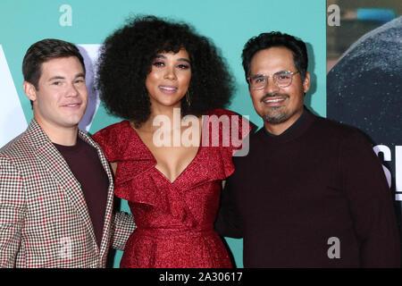 Los Angeles, Ca. 06Th Oct, 2019. Adam DeVine, Alexandra Shipp et Michael Pena à la première de 'la' Jexi Lionsgate à Fox Bruin Theatre Le 3 octobre 2019 à Los Angeles, Californie. Crédit: David Edwards/media/Alamy Punch Live News