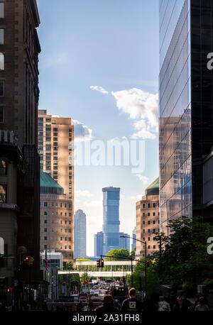 Vue de la ville de Jersey City à partir de la partie basse de Manhattan, New York City, USA. Banque D'Images