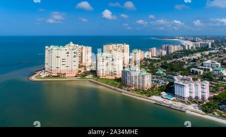 Marco Island Golfe du Mexique Beach Photo aérienne du sud-ouest de la Floride dix mille îles près de Naples et Bonita Springs SWFL