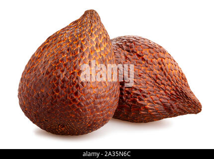 Salak fruits snake path isolated on white Banque D'Images