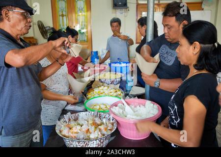 Mataram Lombok Indonesie van de Christenen Immanuel kerk protestante Gereja Emmanuel Barat porte Gaarkeuken GPIB vrijwilligers 21-08-2018 foto Kla Jaco Banque D'Images