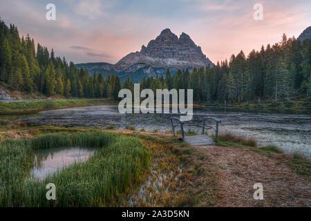 Antorno, lac de Misurina, Padova, Veneto, Dolomites, Italie, Europe